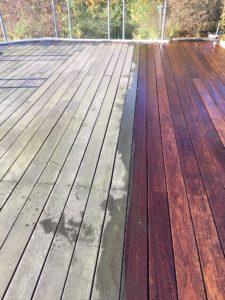 Rensning af træterrasse